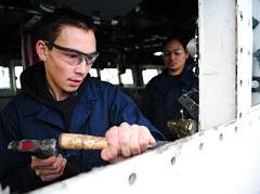 Area Kodiak High School students shadow with Coast Guardsmen