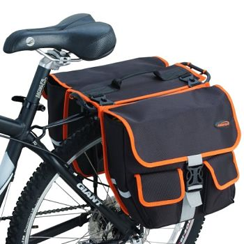 bike rack and panniers