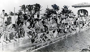 Swimmers meet at Fort Lauderdale in the 1930s