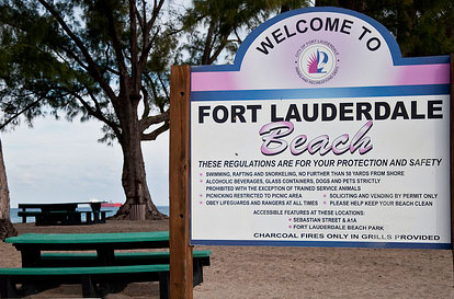 Fort Lauderdale Beach Sign