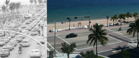 Street View of Fort Lauderdale Then and Now