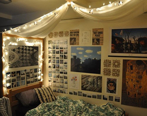 Dorm Bed Canopy Idea