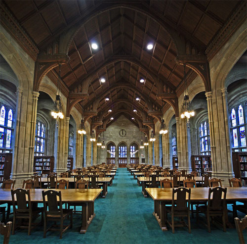 Bapst Library is the most beautiful college library