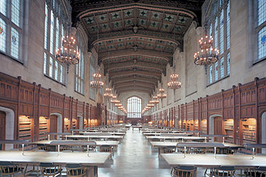 The beautiful Michigan Law Library Reading Room